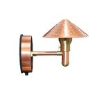 Focus Industries SL-46-CAR 12V 20W T4 Halogen, Hammered Hat Wall Mount, Copper Acid Rust Finish