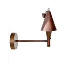 Focus Industries SL-47-COP 12V 20W T4 Halogen, Tiki Torch Wall Mount, Unfinished Copper