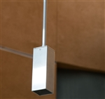 Focus Industries SL-54-WIR 12V 20W MR16 Halogen, Square Pendant Fixture, Weathered Iron Finish