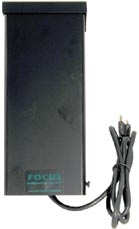 Focus Industries WT-12-200AT 200W 12.5V Weatherproof Transformer, Single Circuit, Black Finish
