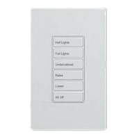 Greengate RC-6TSB-TS4-W Room Controller Wallstation, 6 small buttons (General, Whiteboard, A/V Mode, Raise, Lower, All Off), White Finish