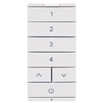 Halo Home HIWSKB1BLE40AWH Battery-Powered Multi-Room Scene Keypad, Bluetooth Low Energy, White