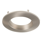 "Halo Recessed RL4TRMSNB 4"" LED Downlight Baffle Trim for RL460WH Series, Satin Nickel"