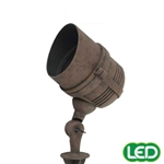 Hubbell Outdoor Lighting FL-AB 3W LED Floodlight Lightscraper Landscape Light, Die Cast Aluminum, Antique Bronze Finish