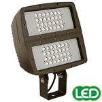 Hubbell Outdoor Lighting FXL-56L 199W Large Architechtural LED Floodlight, Yoke Mount, Wide Beam, 120-277V, 16358 Lumens, 5000K, Bronze Finish