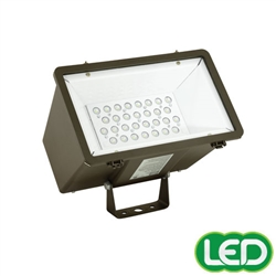 Hubbell Outdoor Lighting Mhs Y 30l1 5k W Bz Pc1 71w Miniliter Led Floodlight With Photocontrol