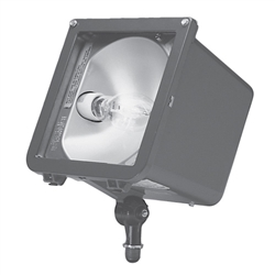 Hubbell Outdoor Lighting MIC-0070S-651 70W Microliter Floodlight, Normal Power Factor, High Pressure Sodium, 5 (90°) x 6 (102°) Photometry, 120NPF, Bronze Finish