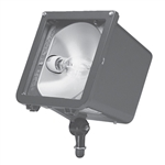 Hubbell Outdoor Lighting MIC-XXXXX-XXX Less Ballast Microliter Floodlight, Medium Base Socket, Bronze Finish