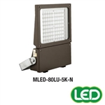 Hubbell Outdoor Lighting MLED-80LU-5K-W-BZ 179W Magnuliter LED Floodlight, 80 LEDs, 120-277V, 5000K, Wide 7x7 Beam Spread, Bronze Finish