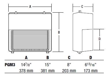 Hubbell Outdoor Lighting Pgm3 100p 18 Bz L 100w Perimaliter Pulse Start Metal Halide Wallpack