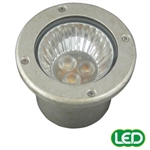 Hubbell Outdoor Lighting RE-PT 3W LED Recessed Lightscraper Landscape Light, Die Cast Aluminum, Pewter Finish