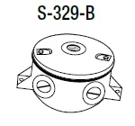 "Hubbell Outdoor Lighting S-329-B Cast Round Box with (4) 1/2"" Side Hubs and (1) 1/2"" Back Hub, Natural Aluminum Finish"