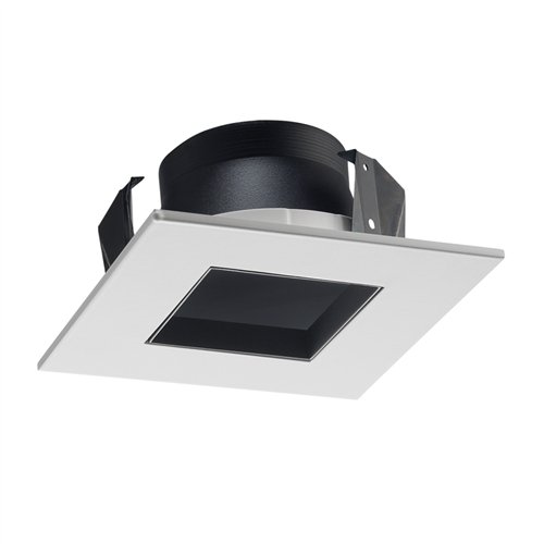 Juno Recessed Lighting 17sq B Wh Bwh 4 Line Voltage Led And Fluorescent Square Downlight Trim Black Reflector White