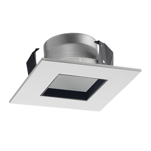 Juno Recessed Lighting 17sq W Wh Wwh 4 Line Voltage Led And Fluorescent Square Downlight Trim White Reflector