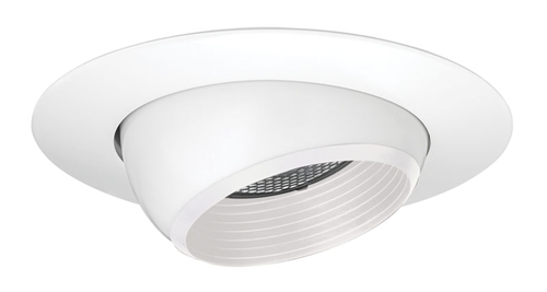 Juno Recessed Lighting 208w Wh 208nw Wh 5 Line Voltage Adjustable Eyeball With Baffle Trim White Baffle White Trim
