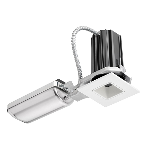 Juno Recessed Lighting 2sq 927f1 Wwh 2 Led Square Downlight Cone 2700k 90cri Flood Beam 120v Only