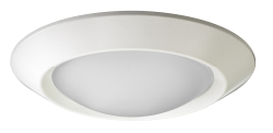 "Juno Recessed Lighting 4401-WH (4401 WH) 4"" Low Voltage Frosted Glass Dome Lensed Trim, White Trim"