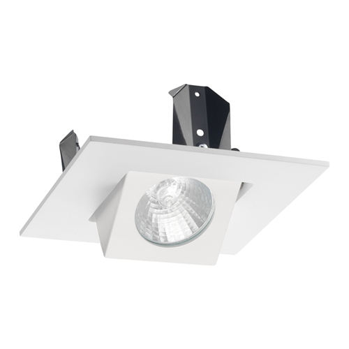 """6 Inch Par30 Adjustable Gimbal Ring Trim White Recessed: Juno Recessed Lighting 440SQ-WH (440SQ WH) 4"""" Low Voltage"""