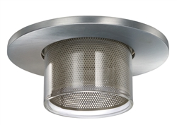 "Juno Recessed Lighting 4450MESH-SC (4450 MESHSC) 4"" Low Voltage Glass Cylinder Trim, Satin Chrome Trim"