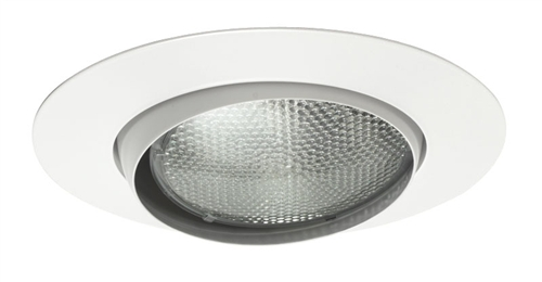 """White Trim Juno Recessed Lighting 209-WH 5/""""  Gimbal Ring with Flat Trim"""