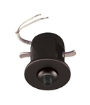 Juno Track Lighting 907 QJ BLA Flat Quick Jack Mini MonoPoint for Remodel Applications, Black Finish