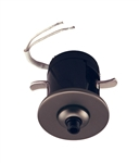Juno Track Lighting 907 QJ BZA Flat Quick Jack Mini MonoPoint for Remodel Applications, Bronze Finish