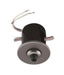Juno Track Lighting 907 QJ SNA Flat Quick Jack Mini MonoPoint for Remodel Applications, Satin Nickel Finish