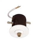 Juno Track Lighting 907QJ-WHT (907 QJ WH) Flat Quick Jack Mini MonoPoint for Remodel Applications, White Finish