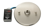 Juno Track Lighting 909QJ-STN (909 QJ SNA) Flat Quick Jack MonoPoint With built-in 50W Transformer, Satin Nickel Finish