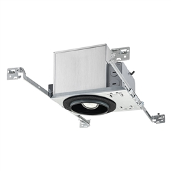 "Juno Recessed Lighting IC104AL-3K-F-1 4"" Adjustable LED IC type New Construction Housing 1000 Lumens, 3000K Color Temp, Flood Beam, Dedicated Driver 120V"