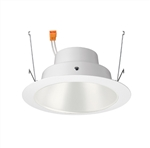 "Juno J6RL G4 DC 09LM 30K 90CRI 120 FRPC WWH Recessed Lighting 6"" Gen 4 Retrofit LED Downlight Trim Module 900 Lumens, 3000K color Temperature, White Cone, White Trim, Less Medium Base Socket Adapter"
