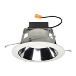 "Juno J6RL WD G4N DC 06LM 30K 90CRI 120 FRPC CWH Recessed Lighting 6"" IC WarmDim LED Retrofit Downlight Trim Module 600 Lumens, 3000K Color Temperature, Clear Cone, White Trim, Less Medium Base Socket Adapter"