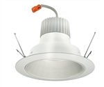 "Juno Recessed Lighting J6RLG3-27K-6-WWH 6"" Retrofit LED Downlight Trim Module 600 Lumens, 2700K Color Temperature, White Baffle, Less Medium Base Socket Adapter"