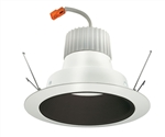 "Juno Recessed Lighting J6RLG3-41K-6-BWH 6"" Retrofit LED Downlight Trim Module 600 Lumens, 4100K Color Temperature, Black Baffle, Less Medium Base Socket Adapter"