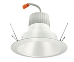 "Juno Recessed Lighting J6RLG3-41K-6-WHW 6"" Retrofit LED Downlight Trim Module 600 Lumens, 4100K Color Temperature, White Cone, Less Medium Base Socket Adapter"