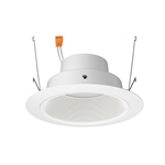 "Juno Recessed Lighting J6RLG4-35K-6-WWH 6"" Gen 4 Retrofit LED Downlight Trim Module 600 Lumens, 3500K Color Temperature, White Baffle, Less Medium Base Socket Adapter"