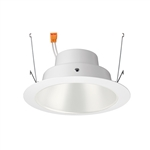 "Juno Recessed Lighting J6RLG4-3K-6-WHW 6"" Gen 4 Retrofit LED Downlight Trim Module 600 Lumens, 3000K Color Temperature, White Cone, Less Medium Base Socket Adapter"