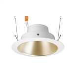"Juno Recessed Lighting J6RLG4-3K-9-WZW 6"" Gen 4 Retrofit LED Downlight Trim Module 900 Lumens, 3000K color Temperature, Wheat Haze Cone, White Trim, Less Medium Base Socket Adapter"