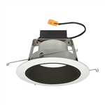 "Juno Recessed Lighting J6RLWDG4N-3K-6-BWH 6"" IC WarmDim LED Retrofit Downlight Trim Module 600 Lumens, 3000K Color Temperature, Black Baffle, White Trim, Less Medium Base Socket Adapter"
