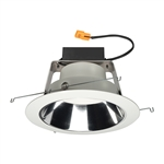 "Juno Recessed Lighting J6RLWDG4N-3K-6-CLW 6"" IC WarmDim LED Retrofit Downlight Trim Module 600 Lumens, 3000K Color Temperature, Clear Cone, White Trim, Less Medium Base Socket Adapter"