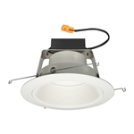 "Juno Recessed Lighting J6RLWDG4N-3K-6-WWH 6"" IC WarmDim LED Retrofit Downlight Trim Module 600 Lumens, 3000K Color Temperature, White Baffle, White Trim, Less Medium Base Socket Adapter"