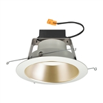 "Juno Recessed Lighting J6RLWDG4N-3K-6-WZW 6"" IC WarmDim LED Retrofit Downlight Trim Module 600 Lumens, 3000K Color Temperature, Wheat Haze Cone, White Trim, Less Medium Base Socket Adapter"