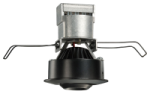 "Juno Recessed Lighting MG1L27K-SP-BL (MG1LG2-27K-SP-BL) 2-5/8"" LED Mini LED Gimbal 2700K Spot Beam Spread, Black Finish"