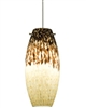 Juno Lighting P88MPG-STN-SUN (DPEND MP P88 SUN 72IN G9HAL SNC SNA) Charlotte Line Voltage Decorative Pendant for Monopoint 120V 40W G9 Halogen, Satin Nickel Fixture, Sundae Shade