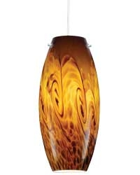 Juno Lighting P88QJLA3-STN-AMS Charlotte Low Voltage Decorative Pendant with Quick Jack Adapter 12V 5W LED 3000K, Satin Nickel Fixture, Amber Storm Shade