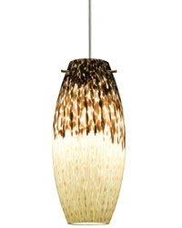 Juno Lighting P88TBG-STN-SUN (DPEND TM P88 SUN 72IN G9HAL SNC BLA) Charlotte Line Voltage Decorative Pendant for Trac Master Black 120V 40W G9 Halogen, Satin Nickel Fixture, Sundae Shade