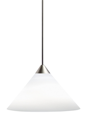 Juno Lighting PKH310OPAL (PKH P310 OPL) Decorative Pendant Kit Short Cone Glass Shade Opal Glass Color