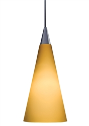 Juno Lighting PKH312SUNSETGOLD Decorative Pendant Kit Tall Cone Glass Shade, Sunset Gold Color