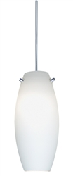 Juno Lighting PKH322OPAL (PKH P322 OPL) Decorative Pendant Kit Ellipse Glass Shade, Opal Color