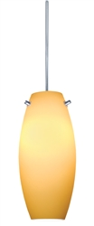 Juno Lighting PKH322SUNSETGOLD Decorative Pendant Kit Ellipse Glass Shade, Sunset Gold Color